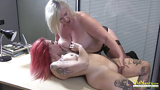 British Mature and Lesbian Striptease